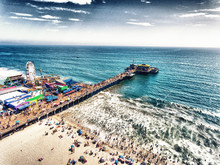 Aerial View Of Santa Monica Pi...
