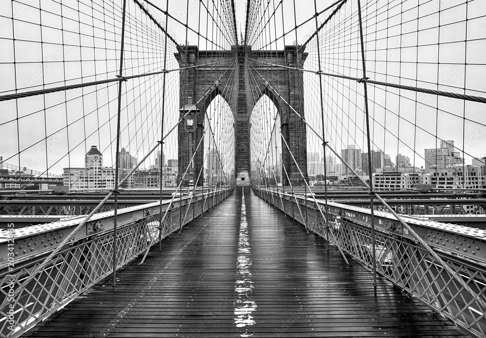 Fototapeta Brooklyn bridge of New York City
