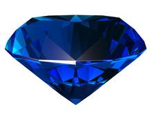 Sapphire Side View 3D Illustra...