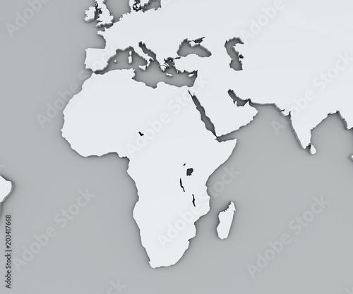 Cartina Geografica Italia Africa.Cartina Dell Africa Bianca Cartina Geografica Cartografia Atlante Geografico Stock Illustration Adobe Stock