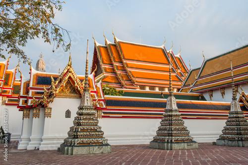Temples Bangkok, Thailande Canvas Print