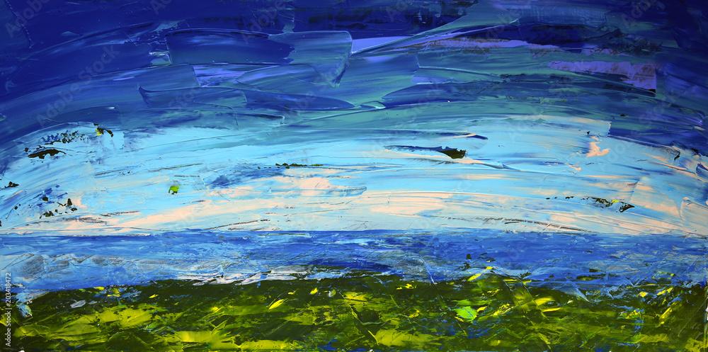 Fototapeta Abstract art painting landscape