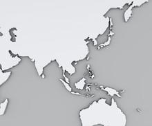 Cartina Del Sud Est Asiatico, ...