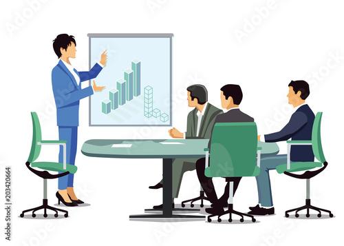 Cuadros en Lienzo Geschäftsbesprechung, Unternehmens Bilanz