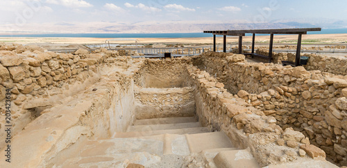 Photo Ritual bath for ablution in Qumran National Park, Israel