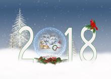 Snowman And Deer In 2018 Chris...
