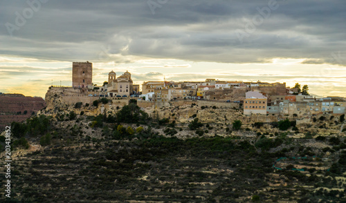 Poster Taupe Pueblo de Aledo en Murcia, España