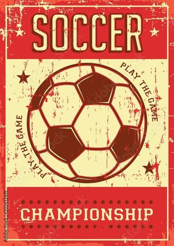 Piłka nożna Piłka nożna Sport Retro Pop Art Poster Signage