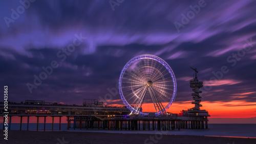 Foto op Plexiglas Crimson Scheveningen Sunset