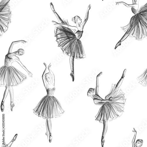 Fotografiet Seamless ballerina