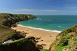 Plemont bay, Jersey, U.K. Wide angle image of an idyllic beach.