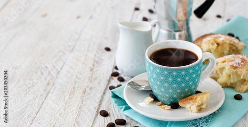 Fototapeta Italian coffee set for breakfast obraz