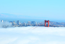 A Walk In The Clouds Over The Golden Gate Bridge - San Francisco