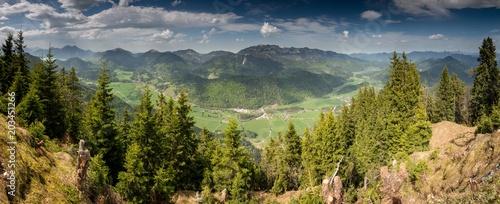 Obraz Panoramic View of Jachenau Valley, Bavaria, Germany - fototapety do salonu