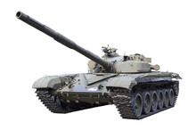 Russian Tank T-72 Isolated On White Background