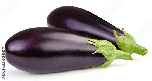Photo Eggplant isolated on white
