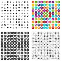 100 War Icons Set Vector In 4 Variant For Any Web Design Isolated On White