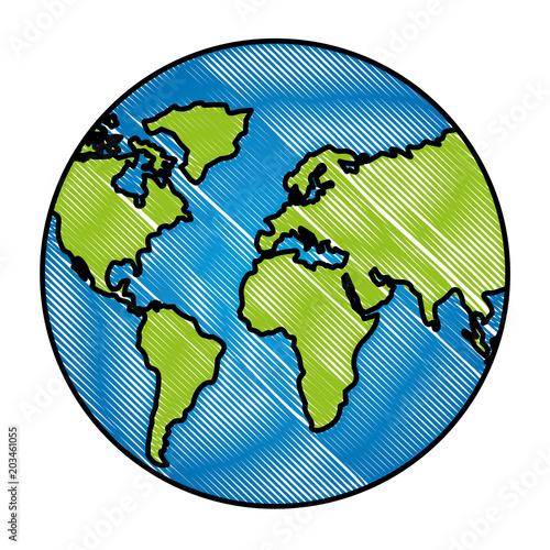 Fotografia  globe map world location geography vector illustration