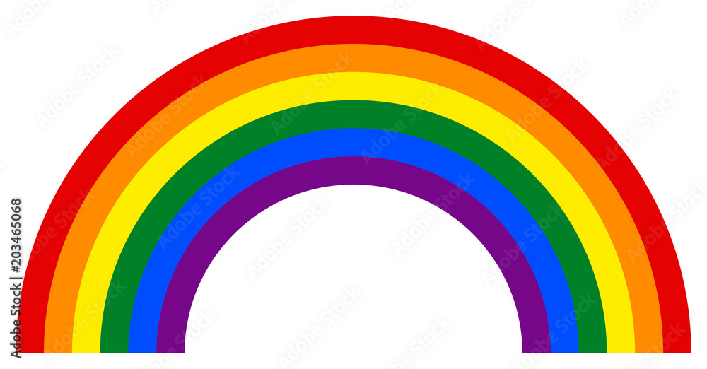 Fototapety, obrazy: Rainbow icon in LGBT movement colors