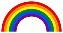 Rainbow Icon In LGBT Movement Colors