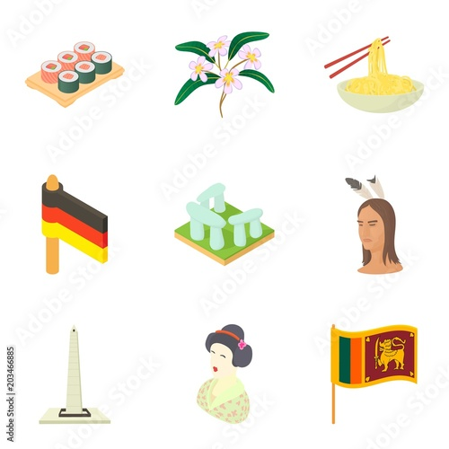 Fotografija  Multinational icons set