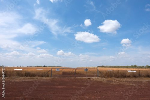 Rural airfield at Normanton in outback Queensland, Australia Wallpaper Mural