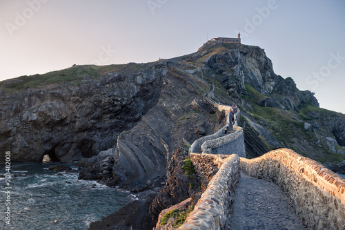 Photo  San Juan de Gaztelugatxe monastery in the spanish basque coast.