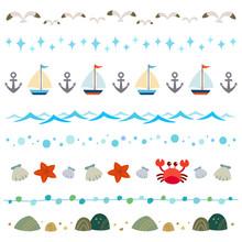 Summer Sea Elements Set
