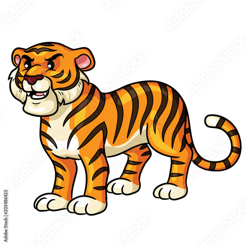 Tiger Cartoon Cute Illustration Of Cute Cartoon Tiger Buy This Stock Vector And Explore Similar Vectors At Adobe Stock Adobe Stock