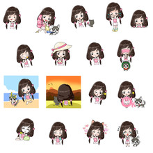 Multi Action Of Girl Charactor...