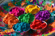 canvas print picture - Festival of Colors