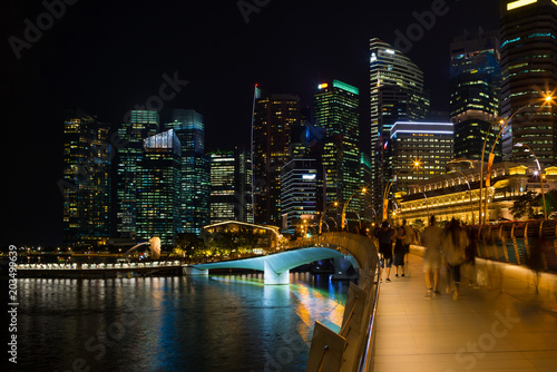 Skyline and  business district of Singapore Poster