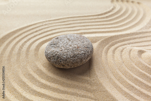 Tuinposter Stenen in het Zand zen garden meditation stone background