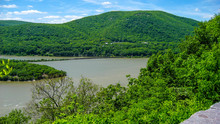 Bear Mountain State Park, New York, Lake With Park And Trees Around