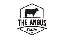 Retro Vintage Cattle Angus Bee...