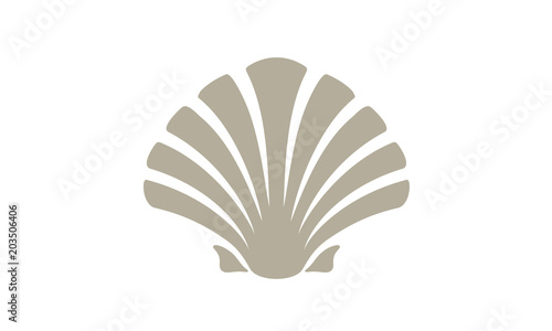 Fotografie, Obraz Beauty Seashell Oyster Scallop Shell Bivalve Cockle Mussel Clam Simple Silhouett