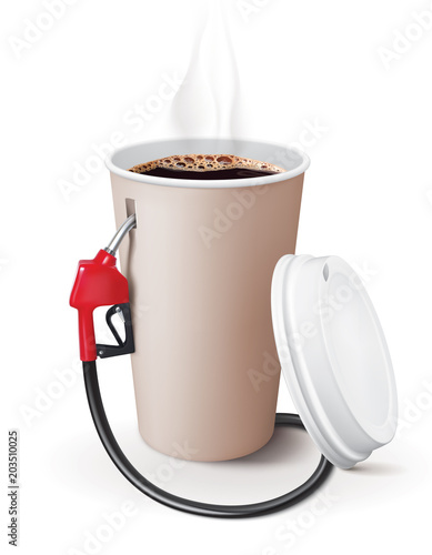 Fotografie, Obraz  Paper cup of coffee with dispenser