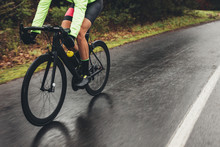 Cyclist Training Outdoors On A...