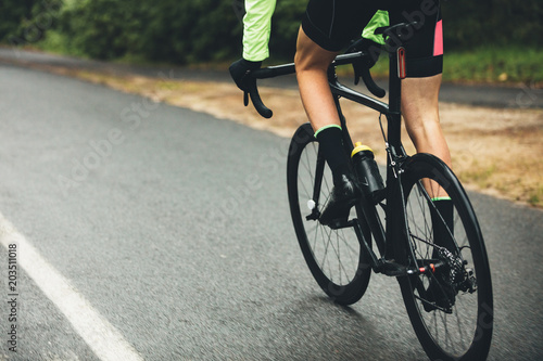 Canvas Prints Cycling Athlete cycling on country road