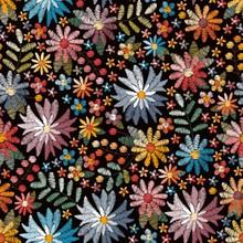 Embroidery Seamless Pattern Wi...