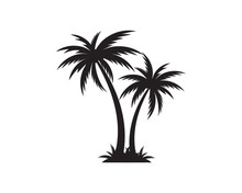 Palm Tree Icon Template Vector Illustration