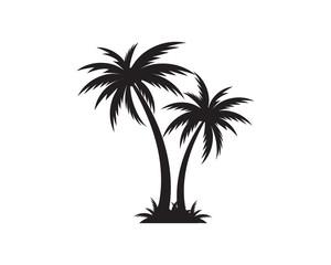 Predložak ikone palme vektorska ilustracija