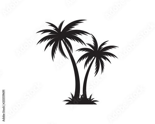 Palm tree icon template vector illustration Slika na platnu