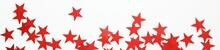 Banner Of Red Stars Confetti