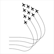 Airplane Flying Formation, Air...