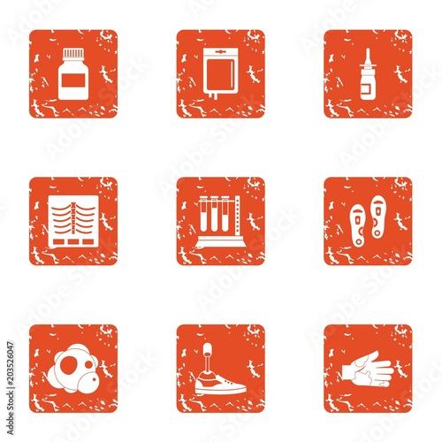Foto  Medicinal preparation icons set