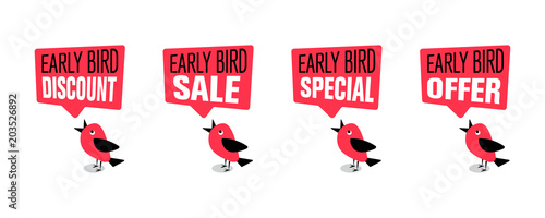 Early bird special, discount, sale or offer banner or poster Canvas Print