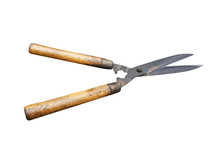 Old Grass Shears With Wooden H...