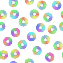 Colorful Digital Disc Seamless Pattern
