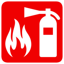 Fire Safety Red Banner Isolate...